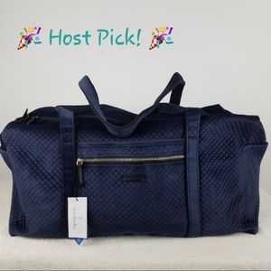 Vera Bradley Velvet Iconic Large Duffel Bag NWT